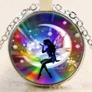 Fairy Cabochon Necklace